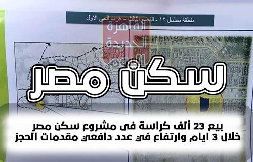 بيع 23 ألف كراسة فى مشروع سكن مصر خلال 3 ايام وارتفاع في عدد دافعي مقدمات الحجز