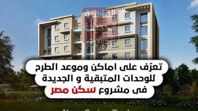 تعرّف على اماكن وموعد الطرح للوحدات المتبقية والجديدة فى مشروع سكن مصر