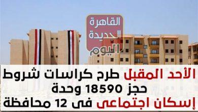 الأحد المقبل طرح كراسات شروط حجز 18590 وحدة إسكان اجتماعى حر فى 12 محافظة
