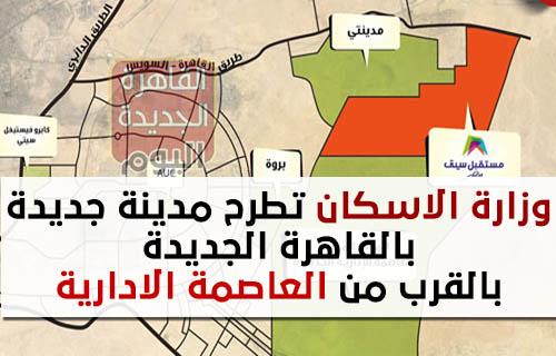 وزارة الاسكان تطرح مدينة جديدة بالقاهرة الجديدة بالقرب من العاصمة الادارية