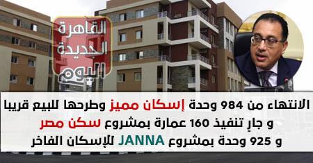 الانتهاء من 984 وحدة إسكان مميز وطرحها للبيع قريبا بمدينة دمياط الجديدة