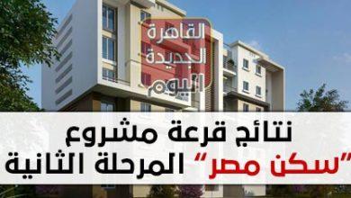 نتائج قرعة مشروع سكن مصر المرحلة الثانية