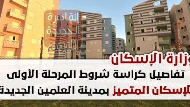 تفاصيل كراسة شروط حجز وحدات المرحلة الأولى للإسكان المتميز بمدينة العلمين الجديدة