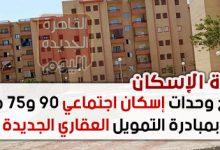 طرح وحدات إسكان اجتماعي 90 و75 مترا بمبادرة التمويل العقاري الجديدة